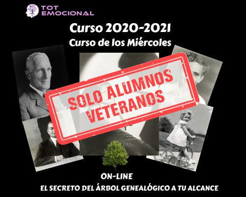 ALUMNOS VETERANOS – Curso 2020 – 2021 online en Barcelona (Miércoles)